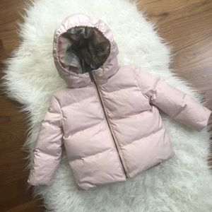 BURBERRY BABY PINK PUFFER SIZE 18 MONTHS